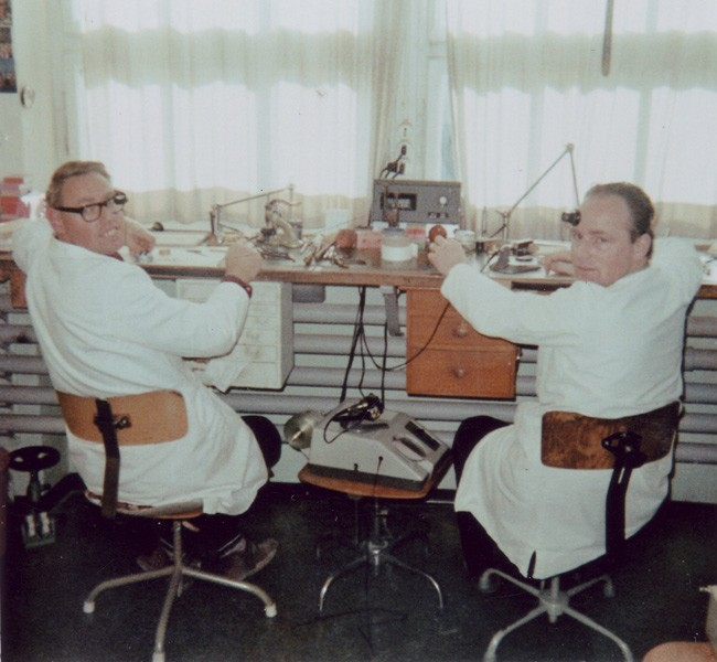 The sons of the founder, Wilfred and Eric Hasler