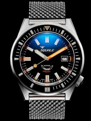 Squale 60 atmos Squalematic Dive Watch - Satin Black