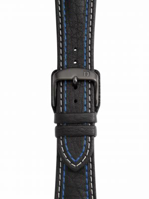Damasko Double Stitched Leather Strap - Black Buckle