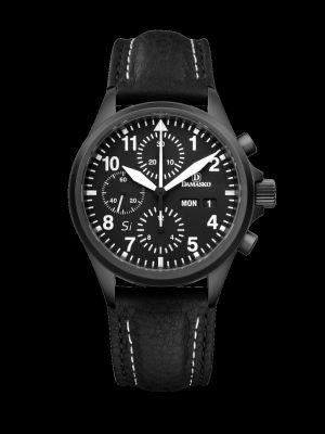 Damasko DC56 Si Black Chronograph Pilot Watch