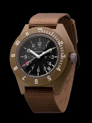 Marathon Pilot Navigator Watch with Date - Desert Tan NGM