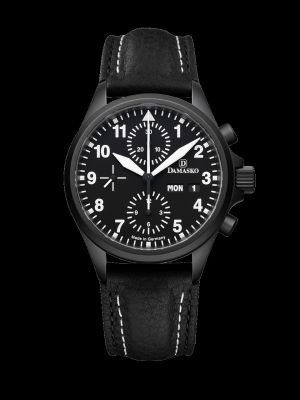 Damasko DC56 Black Chronograph Pilot Watch