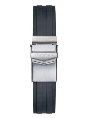 Davosa Argonautic Black Rubber Strap