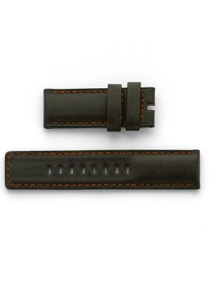 Ralf Tech 26mm Petrodive Black Leather Strap