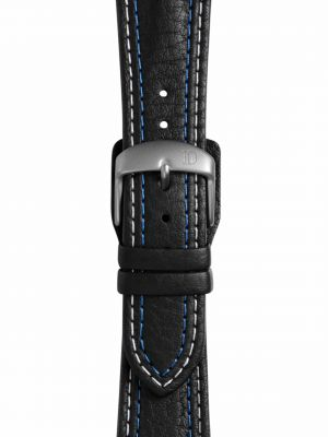 Damasko Double Stitched Leather Strap - Blasted Buckle