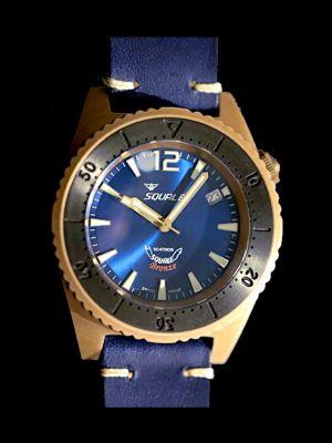 Squale 50 atmos 1521 Blue Bronze