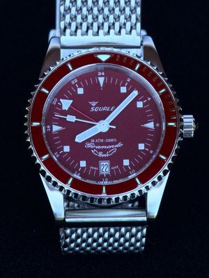 Squale 30 atmos Giramondo GMT - Red