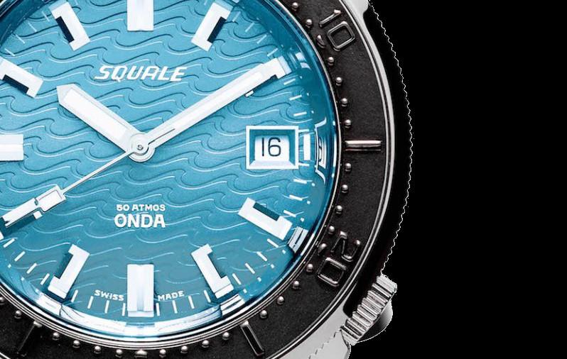 Squale Onda Azzurro Black Dive Watch