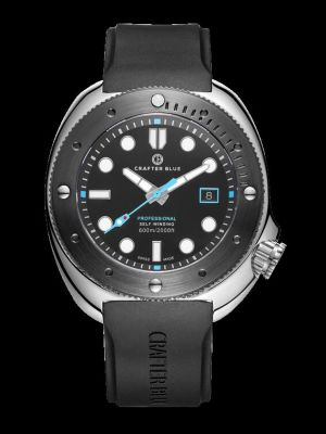 Crafter Blue Hyperion Ocean 600m Professional Dive Watch with Black Bezel