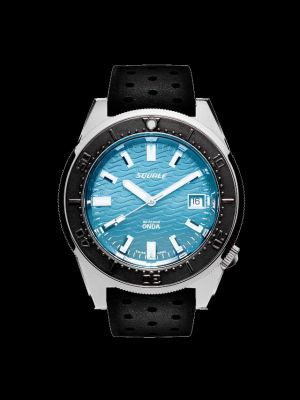 Squale 50 atmos 1521 Dive Watch - Onda Azzurro Black