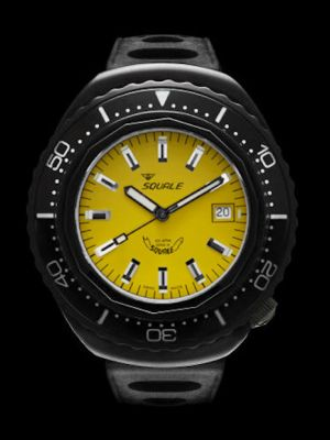 """Squale 101 atmos """"Hornet"""" 2002 - Yellow Black PVD"""