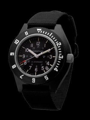 Marathon Pilot Navigator Watch with Date - Black & US Government Markings