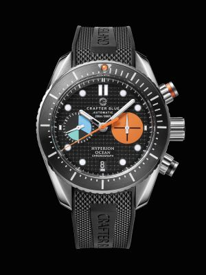 Crafter Blue Hyperion Ocean Chronograph Dive Watch - Black