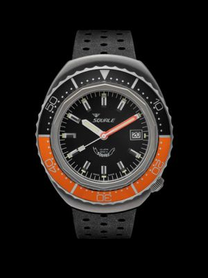 Squale 101 atmos 2002 - Orange/Black Black Blasted