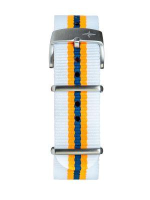 Davosa White-Yellow Nylon Strap
