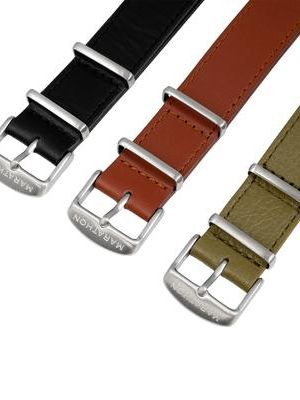 Marathon 20mm Leather NATO Strap