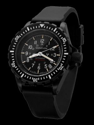 Marathon Anthracite GSAR Search and Rescue Dive Watch - No Government Markings