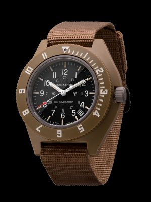 Marathon Pilot Navigator Watch with Date - Desert Tan